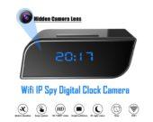 01.Spy Camera Wifi IP Digital Clock Motion Detected Camera Full HD 1080P