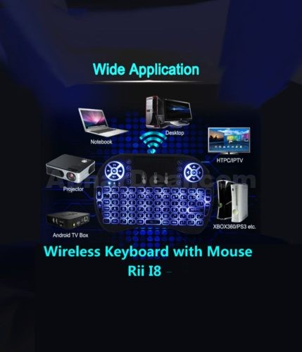 00001.Wireless Keyboard with Mouse Rii I8 3 Colors Changeable Combo backlit
